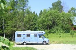 Tylicz Nocleg Pole namiotowe Domki w Lesie